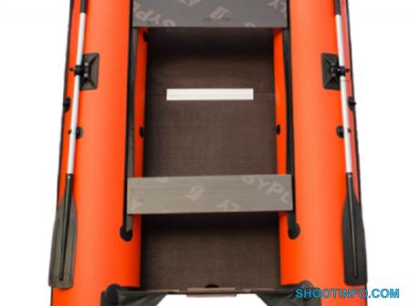 Лодка надувная под мотор Пилигрим-340 оранжево-черный