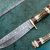 HANDMADE CUSTOM MADE DAMASCUS STEEL HUNTING KNIFE WITH STAG'S HANDLE