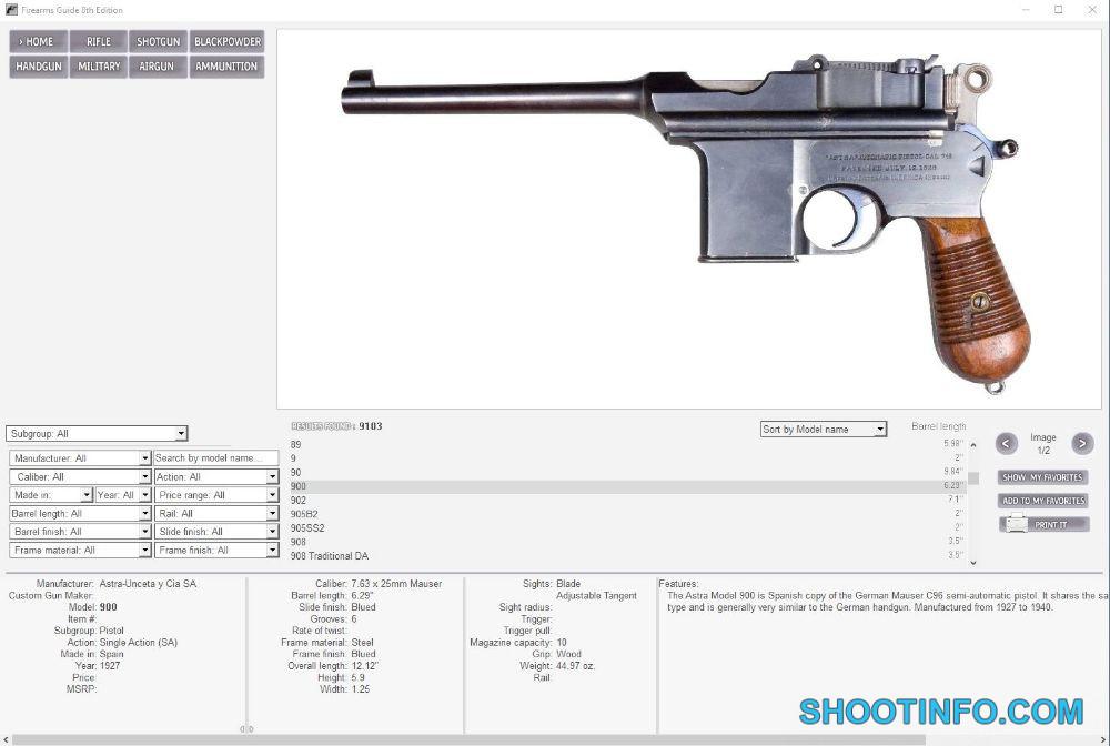 Ad | Firearms Guide - World's Largest Gun Guide and ... Handgun Schematics on