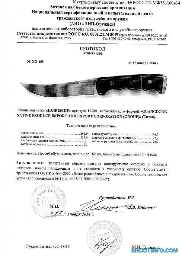 H-201 Ножемир