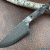 Beautiful blade for a knife made of laminated Damascus, 100% handmade - # i15 (produced in Russia)