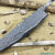 Beautiful blade for a knife made of laminated Damascus, 100% handmade - # 71 (produced in Russia)