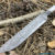 Beautiful blade for a knife made of laminated Damascus, 100% handmade - # 105 (produced in Russia)
