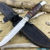 Beautiful knife with forged stainless steel blade, 100% handmade - # 69 (made in Russia)
