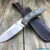 Beautiful knife with forged high-speed steel blade, 100% handmade - # 97 (made in Russia)