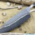 Beautiful blade for a knife made of laminated Damascus, 100% handmade - # 196 (produced in Russia)