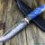 Beautiful knife with laminated steel blade, 100% handmade - # 118 (made in Russia)