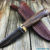 Beautiful knife with laminated steel blade, 100% handmade - # 123 (made in Russia)