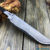 Beautiful blade for a knife made of laminated Damascus, 100% handmade - # 213 (produced in Russia)
