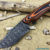 Beautiful knife with forged Damascus steel blade, 100% handmade - # 126 (made in Russia)