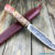 Beautiful knife with forged steel blade, 100% handmade - # 132 (made in Russia)