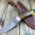 Beautiful knife with forged Damascus steel blade, 100% handmade - # 142 (made in Russia)
