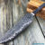 Beautiful blade for a knife made of laminated Damascus, 100% handmade - # 318 (produced in Russia)