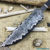 Beautiful blade for a knife made of laminated Damascus, 100% handmade - # 330 (produced in Russia)
