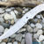 Beautiful forged steel knife blade, 100% handmade - # 246 (Produced in Russia)