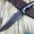 Beautiful knife with forged tool steel blade, 100% handmade - # 158 (made in Russia)