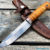 Beautiful knife with forged tool steel blade, 100% handmade - # 160 (made in Russia)