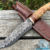 Beautiful knife with a forged blade made of laminated steel, 100% handmade - # 174 (made in Russia)
