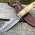 Beautiful knife with forged Damascus steel blade, 100% handmade - # 175 (made in Russia)