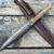 Beautiful knife with a blade made of forged Damascus steel, 100% handmade - # 170 (made in Russia)