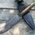 Beautiful knife with forged Damascus steel blade, 100% handmade - # 165 (made in Russia)