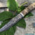 Beautiful knife with forged Damascus steel blade, 100% handmade - # 177 (made in Russia)