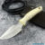Beautiful knife with forged tool steel blade, 100% handmade - # 197 (made in Russia)
