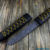 Beautiful knife with forged Damascus steel blade, 100% handmade - # 190 (made in Russia)