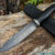 Beautiful knife with forged Damascus steel blade, 100% handmade - #209 (made in Russia)
