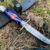 Beautiful knife with forged tool steel blade, 100% handmade - # 204 (made in Russia)