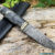 Beautiful knife with forged Damascus steel blade, 100% handmade - #210 (made in Russia)